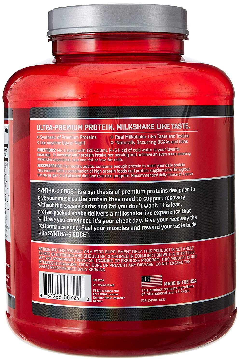 Bsn Syntha 6 Edge Protein Powder 4 02 Lbs 1 82kg Beast Fit Nutrition 100 Genuine Supplements