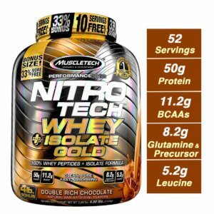 Muscletech Nitro tech Whey Isolate Gold Beast Fit Nutrition